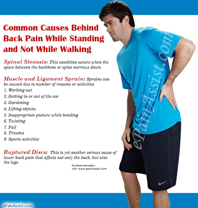Common Causes Behind Back Pain While Standing and Not While Walking