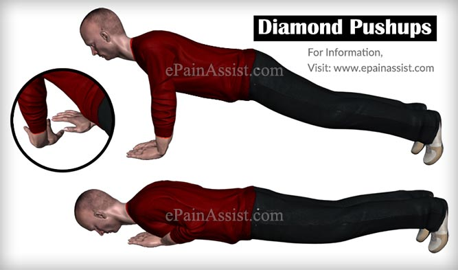 Diamond Pushups Workout for Arms Without Weights