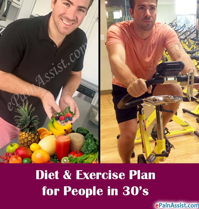 Diet & Exercise Plan for People in 30's
