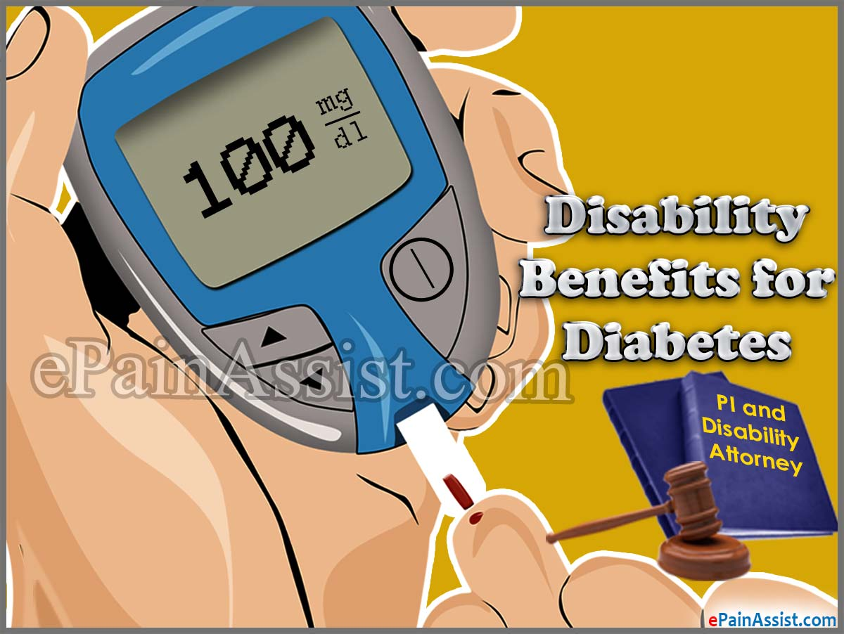 Disability Benefits for Diabetes
