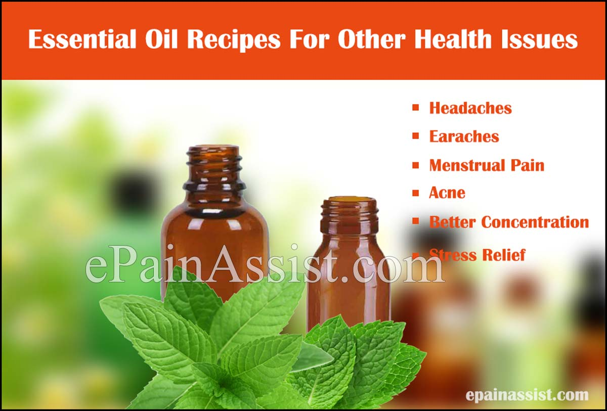 Essential Oil Recipes For Other Health Issues