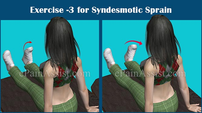 Exercise-3 for Syndesmotic Sprain or Syndesmotic Ankle Sprain