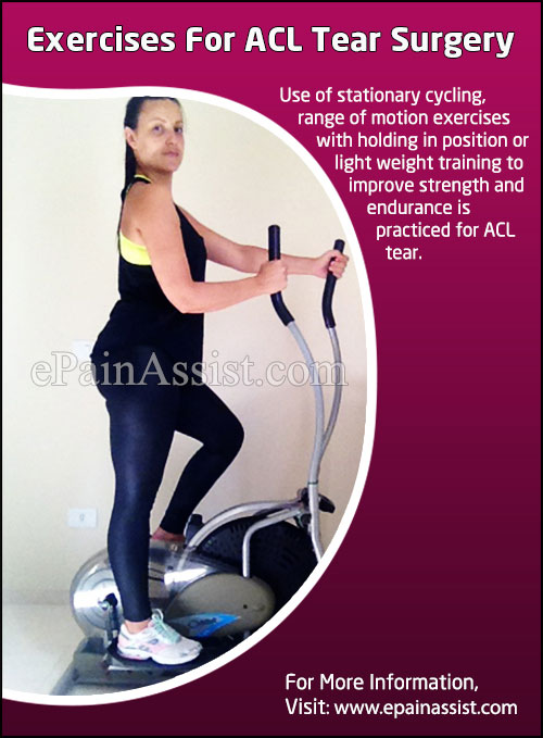 Exercises for ACL Tear Surgery