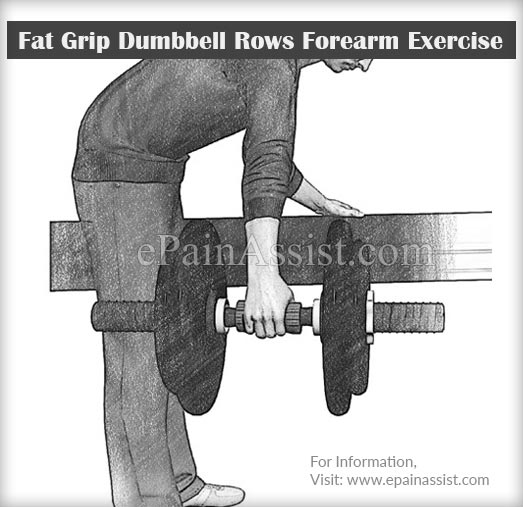 Fat Grip Dumbbell Rows Forearm Exercise