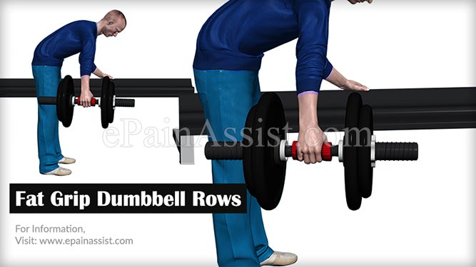 Fat Grip Dumbbell Rows Exercises to Increase Forearm Size