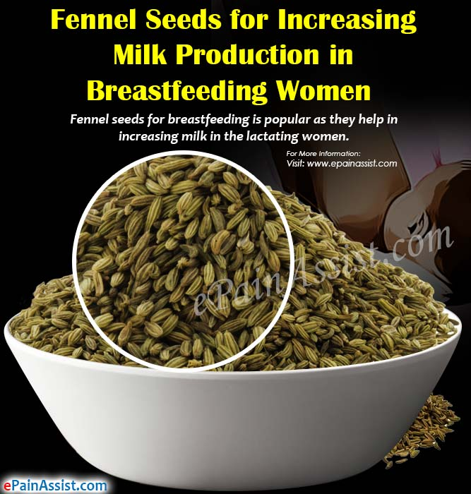 Fennel Seeds for Increasing Milk Production in Breastfeeding Women