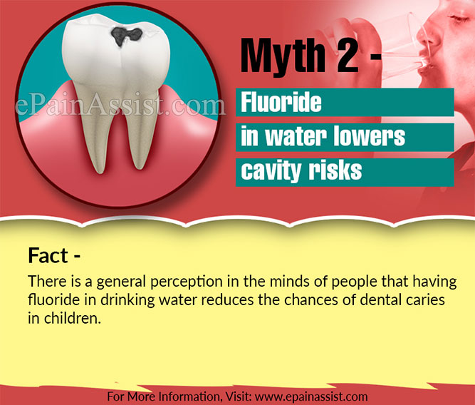 Myth 2 - Fluoride in water lowers cavity risks