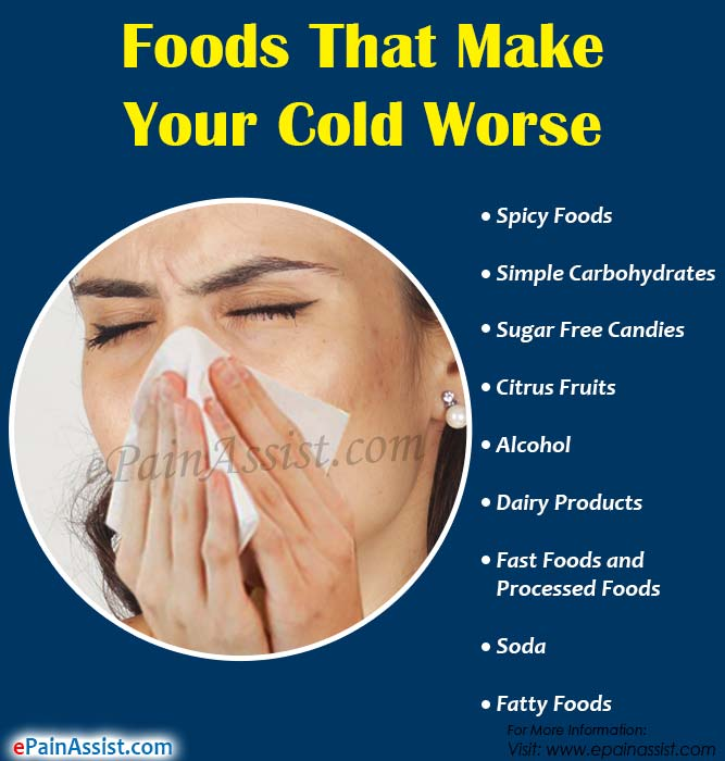 Foods That Make Your Cold Worse