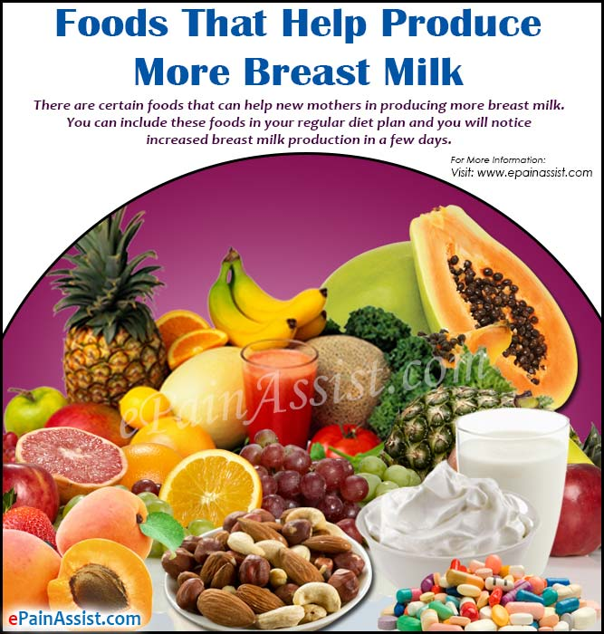 Foods That Help Produce More Breast Milk