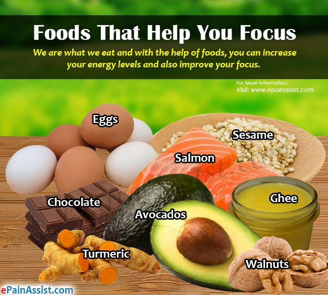 Foods That Help You Focus