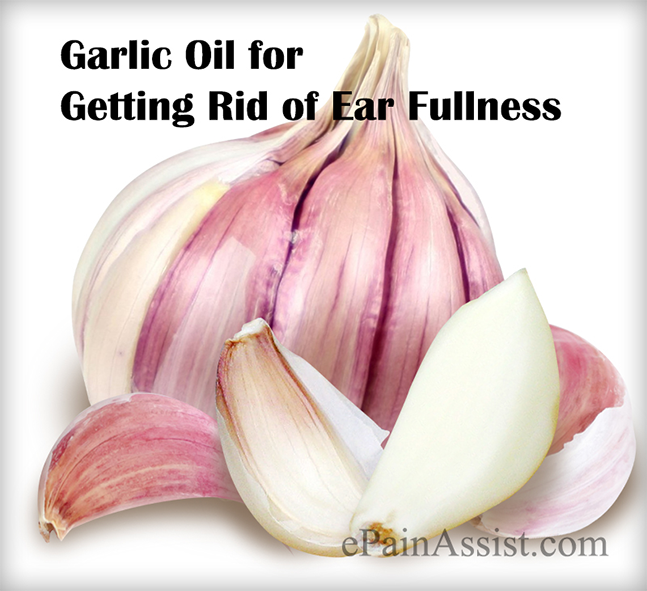 Garlic Oil for Getting Rid of Ear Fullness