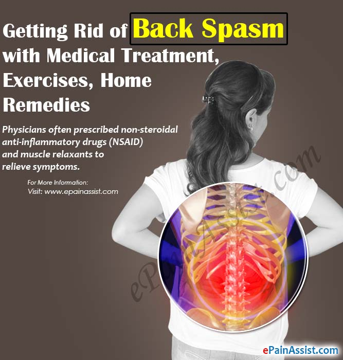 Getting Rid of Back Spasm with Medical Treatment