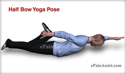 Half Bow Yoga Pose for Men