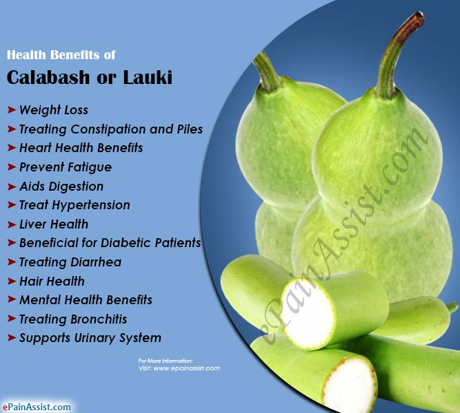 Health Benefits of Calabash or Lauki (Bottle Gourd)