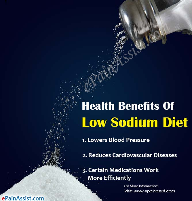 Health Benefits Of Low Sodium Diet