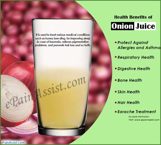 Health Benefits of Onion Juice