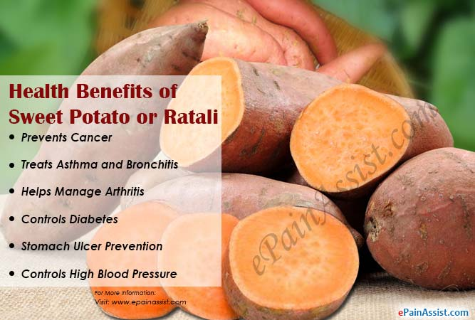 Health Benefits of Sweet Potato or Ratali