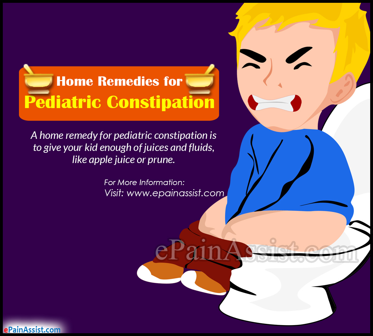 Pediatric Constipation Treatment Home Remedies Signs