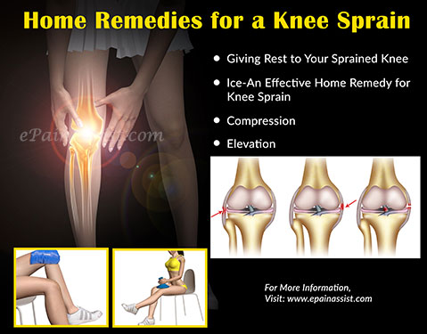 Home Remedies for a Knee Sprain
