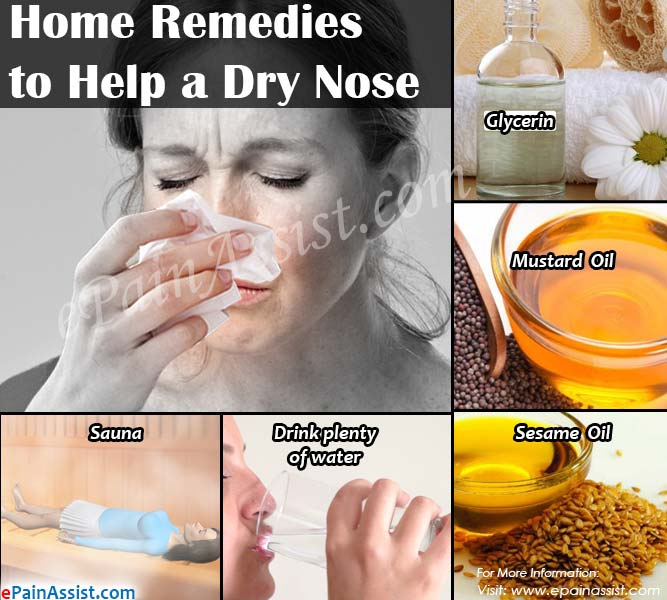 Home Remedies to Help a Dry Nose
