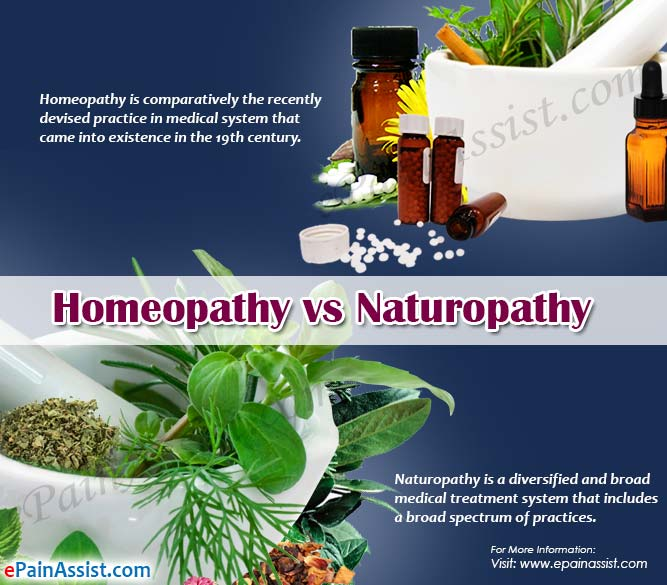Homeopathy vs. Naturopathy