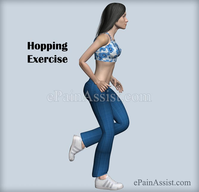 Hopping Exercise For Ankle Joint Ligament Injury!