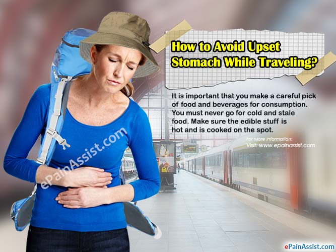 How to Avoid Upset Stomach While Traveling?
