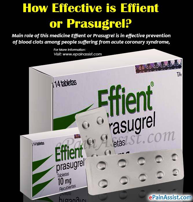 How Effective is Effient or Prasugrel?