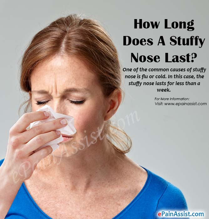 how long does a stuffy nose last