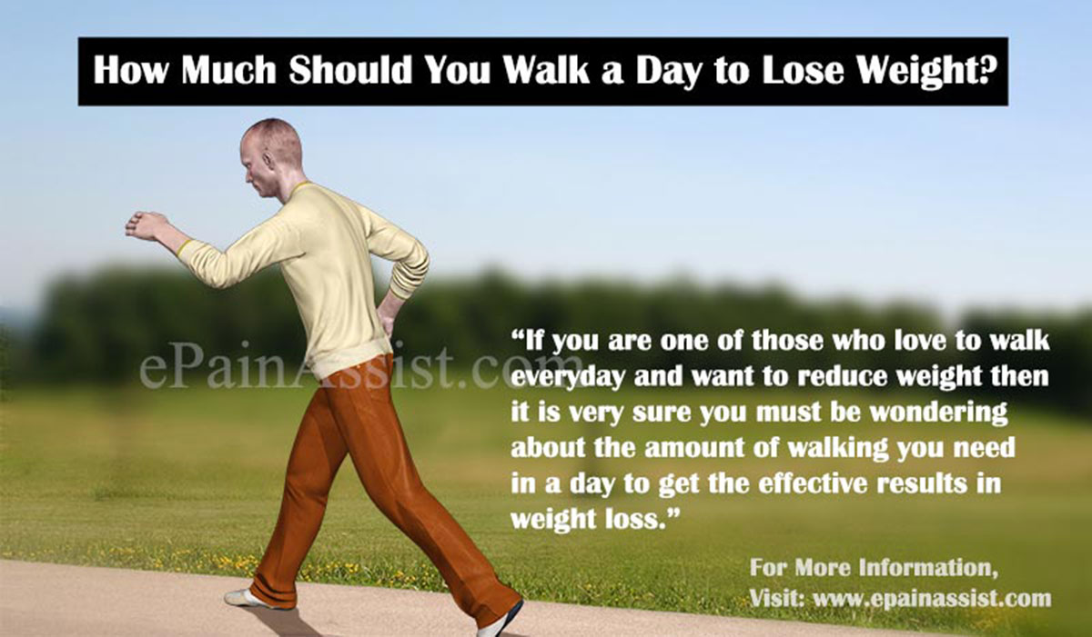 How much should you walk a day to lose weight How to lose weight on slimming world