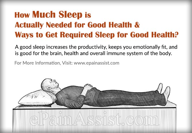 How Much Sleep is Actually Needed for Good Health & Ways to Get Required Sleep for Good Health?