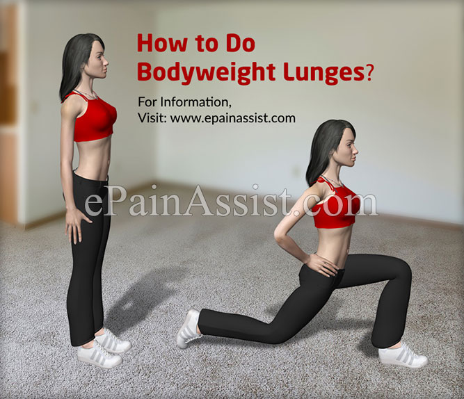 How to Do Bodyweight Lunges?