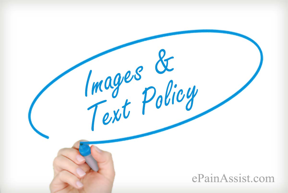 Images and Text Policy-ePainAssist.com