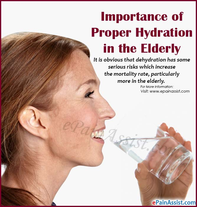 Importance of Proper Hydration in the Elderly