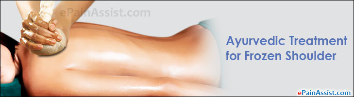 Ayurvedic Treatment for Frozen Shoulder