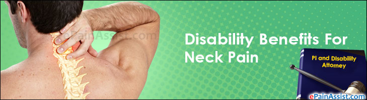 Disability Benefits For Neck Pain Or Cervical Spine Disorders