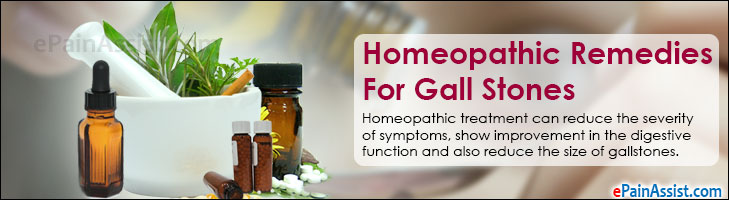 Homeopathic Remedies For Gall Stones