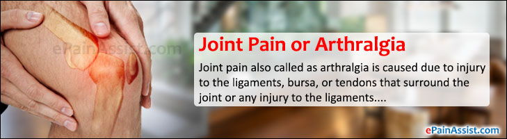 Joint Pain or Arthralgia