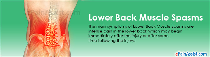 Lower Back Muscle Spasms Treatment Causes Symptoms Manual Guide