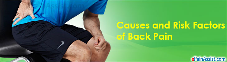 Causes and Risk Factors of Back Pain or Backache