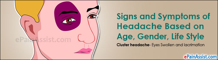 Signs and Symptoms of Headache Based on Age, Gender, Life Style