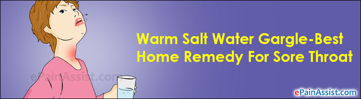 Warm Salt Water Gargle-Best Home Remedy For Sore Throat, Recipe, Frequency