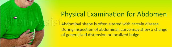 Physical Examination for Abdominal Pain or Stomach Ache: Inspection, Palpation, Auscultation