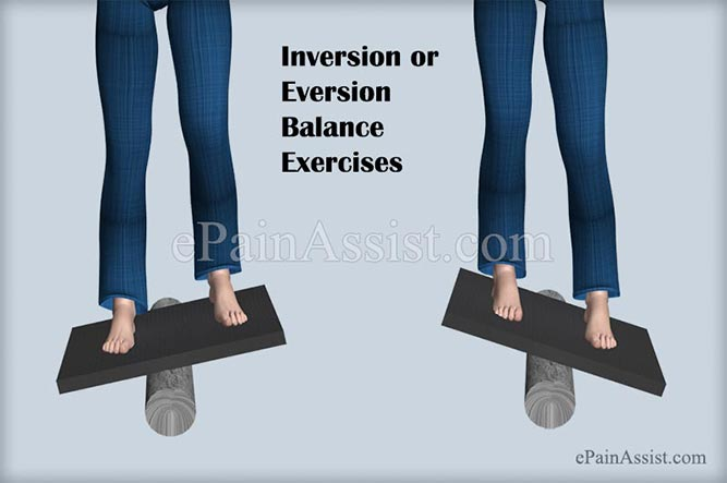 Inversion or Eversion Balance Exercises For Ankle Joint Ligament Injury!