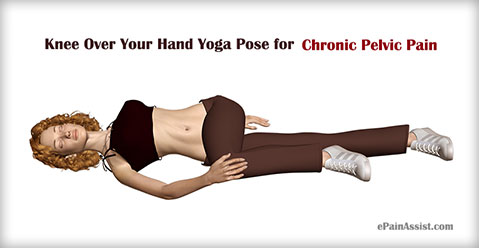 Knee Over Your Hand Yoga Pose for Chronic Pelvic Pain (CPP)