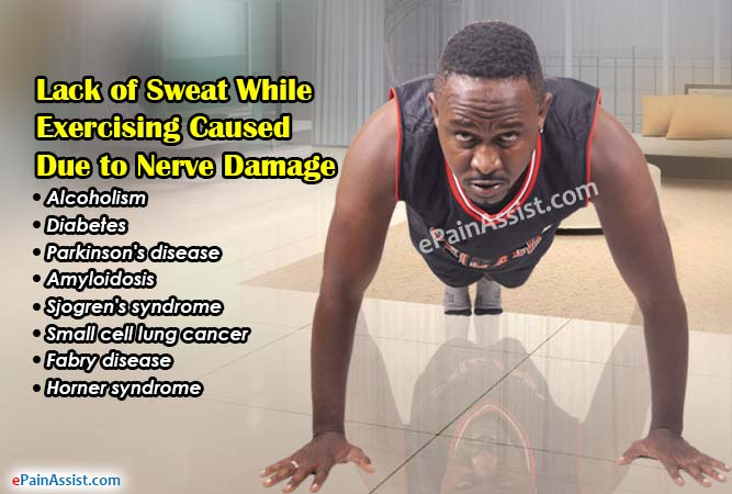 Lack of Sweat While Exercising Caused Due to Nerve Damage