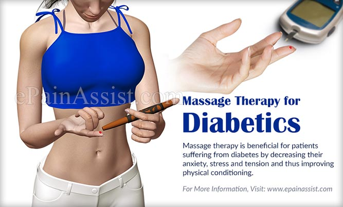 massage therapy for diabetics benefits reduces stress blood sugar