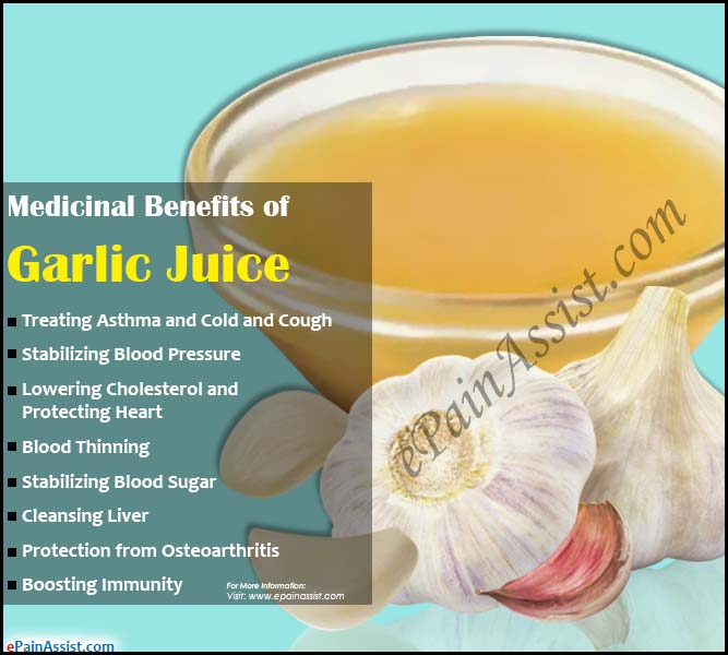 Medicinal Benefits of Garlic Juice