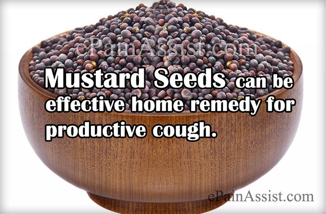 Mustard Seed as a Home Remedy for Productive Cough