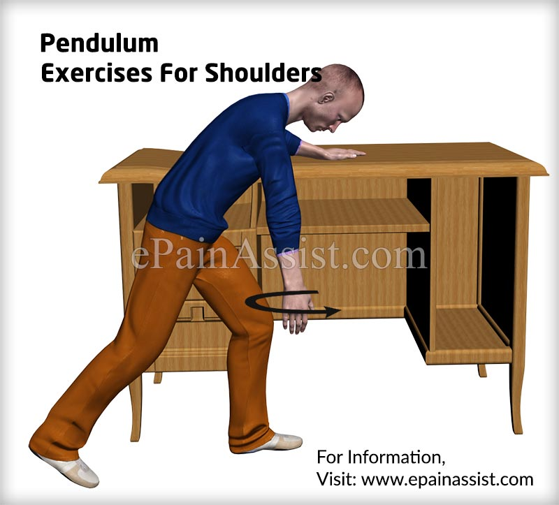 Pendulum Exercises For Shoulders